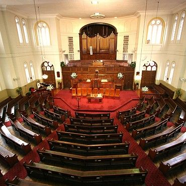 City Tabernacle Baptist Church: built in 1890, is the major centre for the Baptist Church in Queensland and was the site for the annual assembly and other union functions for many years #boh2014 #unlockbrisbane #brisbane #discoverbrisbane