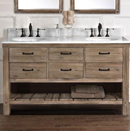 "Napa 60"" Double Bowl Vanity - Sonoma Sand - Fairmont Designs - Fairmont Designs"