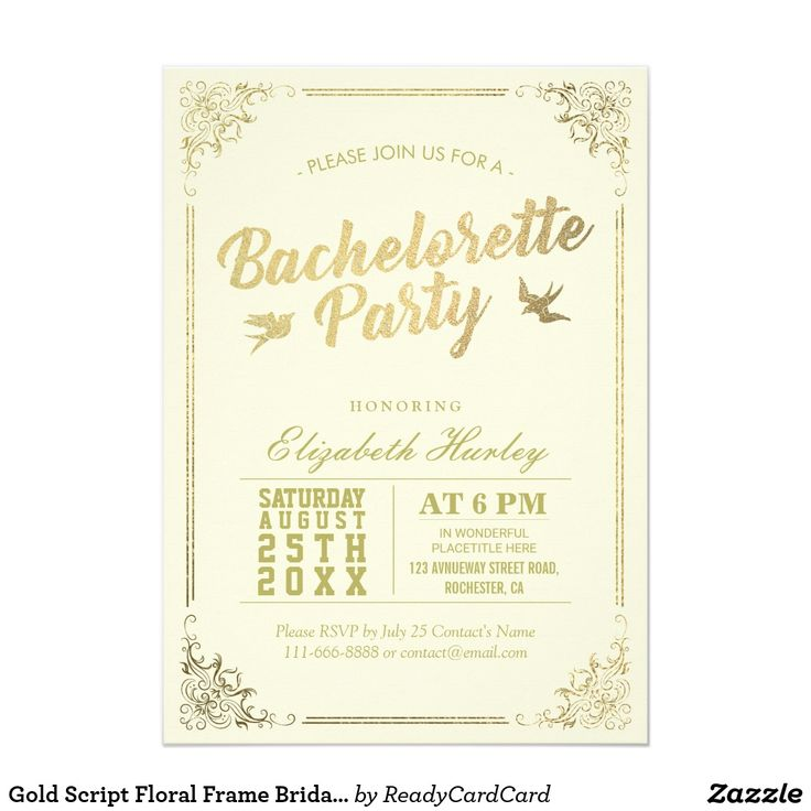 9 best הזמנה למסיבת רווקות images on Pinterest Wedding parties - best of invitation party card