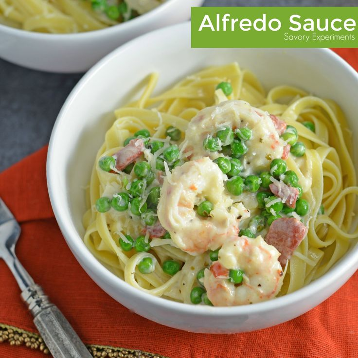 This easy Alfredo sauce recipe can be combined with so many ingredients to make the ultimate fettuccine alfredo recipe!