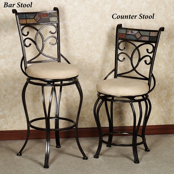 Terran Metal Swivel Bar And Counter Stools Kitchen Decor