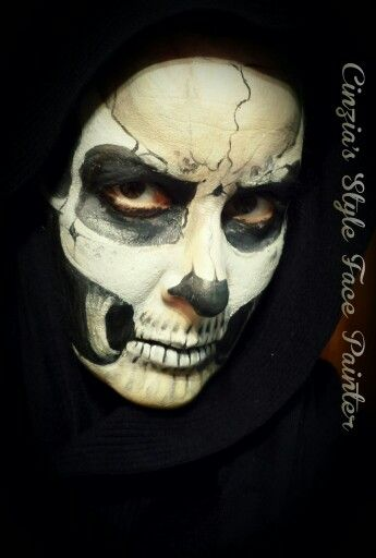 Halloween make-up, truccabimbi