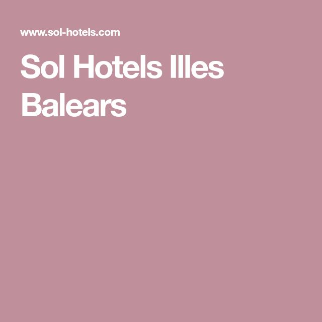 Sol Hotels Illes Balears