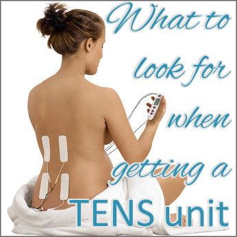 TENS units can be used to treat acute as well as chronic pain.