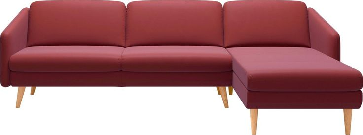 3-Sitzer Duo mit Longseat mit schrägen Holzüßen in 3 ...