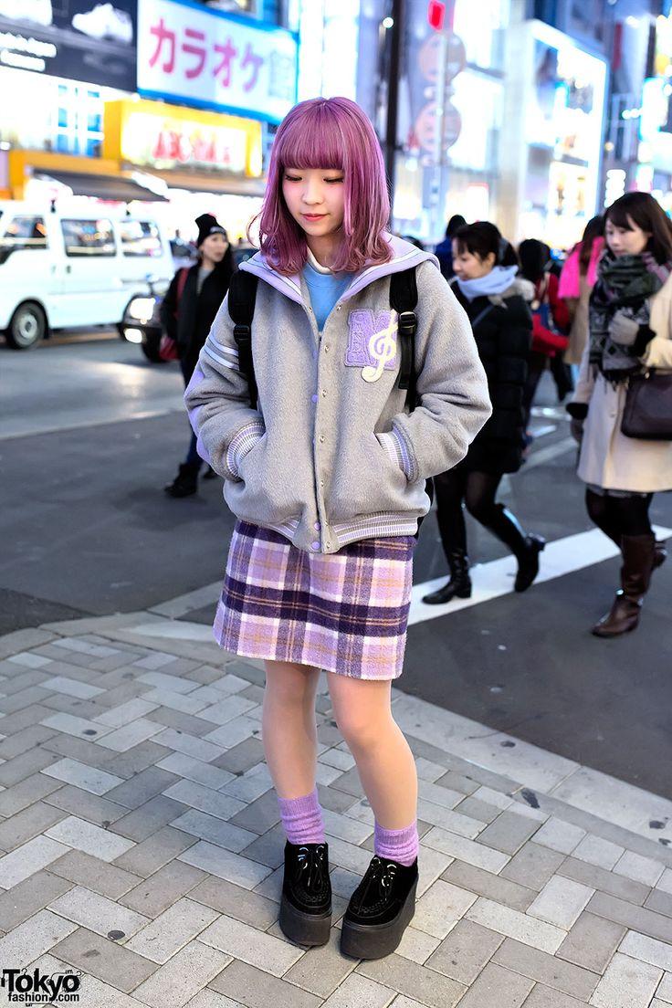 Candy Stripper Jacket & Plaid Skirt