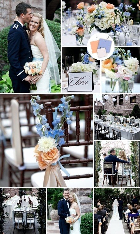 periwinkle and peach wedding - can't get enough of periwinkle