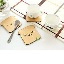 Whoelsale 10 unids/lote creativo taza de esteras y cojines lindo animal de la historieta montañas rusas de madera escritorio anti-quemaduras hotsale(China (Mainland))