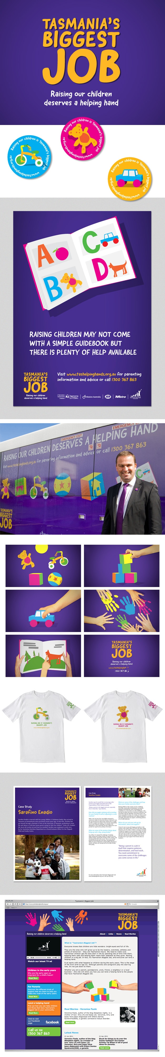 Branding, collateral, advertising and PR campaign for Tasmania's Biggest Job. www.fenton.com.au #communication #PR #branding #graphicdesign