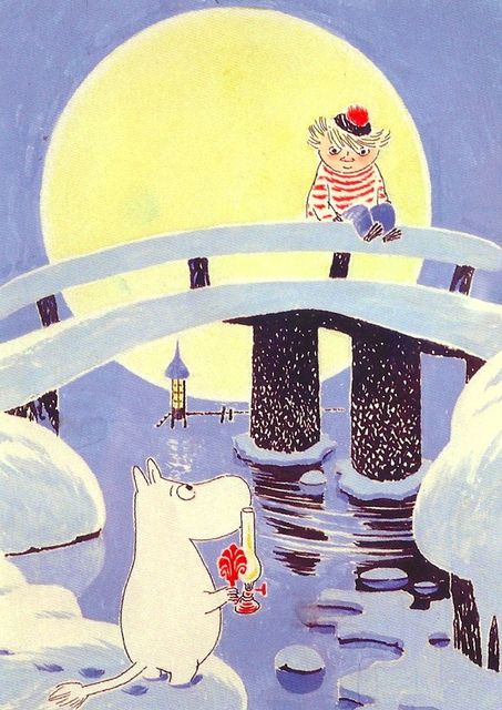 classic moomin - The cover of winter in moomin valley