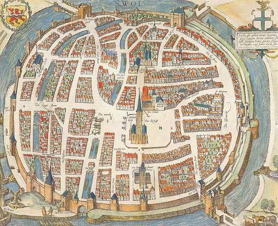 #Zwolle, een belangrijke hanzestad in Overijssel.