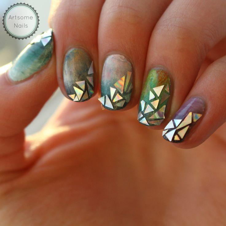 Shatter me nail art