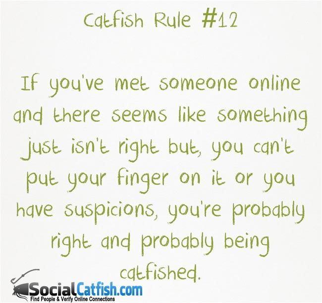 How online dating catfish