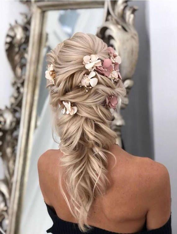 Blüte Haar Rebe - Hochzeit Haar Rebe, Blume Haar Rebe, Brautjungfer Haarschmuck, Boho Hochzeit Haarschmuck, Vintage Hochzeit Braut #Blüte #Blume ...