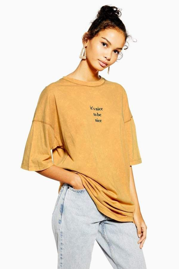 Nice To Be Nice' Oversized T Shirt | Oversized shirt outfit