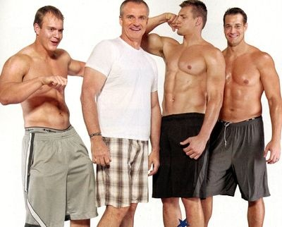 Rob Gronkowski and his FAM.. now those are some great genes!!!