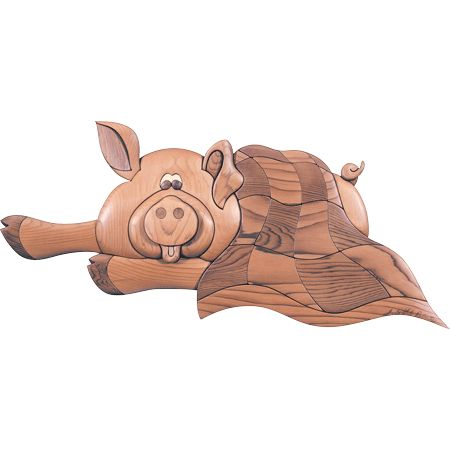 I-25 Pig/Blanket Intarsia Woodworking Pattern JGR