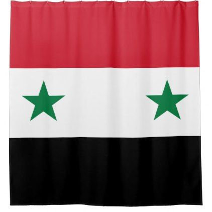 Syria Flag Shower Curtain - shower curtains home decor custom idea personalize bathroom