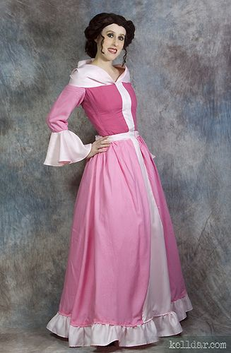 Belle's Pink Dress @ kelldar.com | Costume inspiration - Beauty and ... Beauty And The Beast Belle Pink Dress