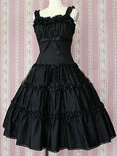 Хлопок Черный Короткие Рукава Хлопок Классический Лолита Платье(China (Mainland))