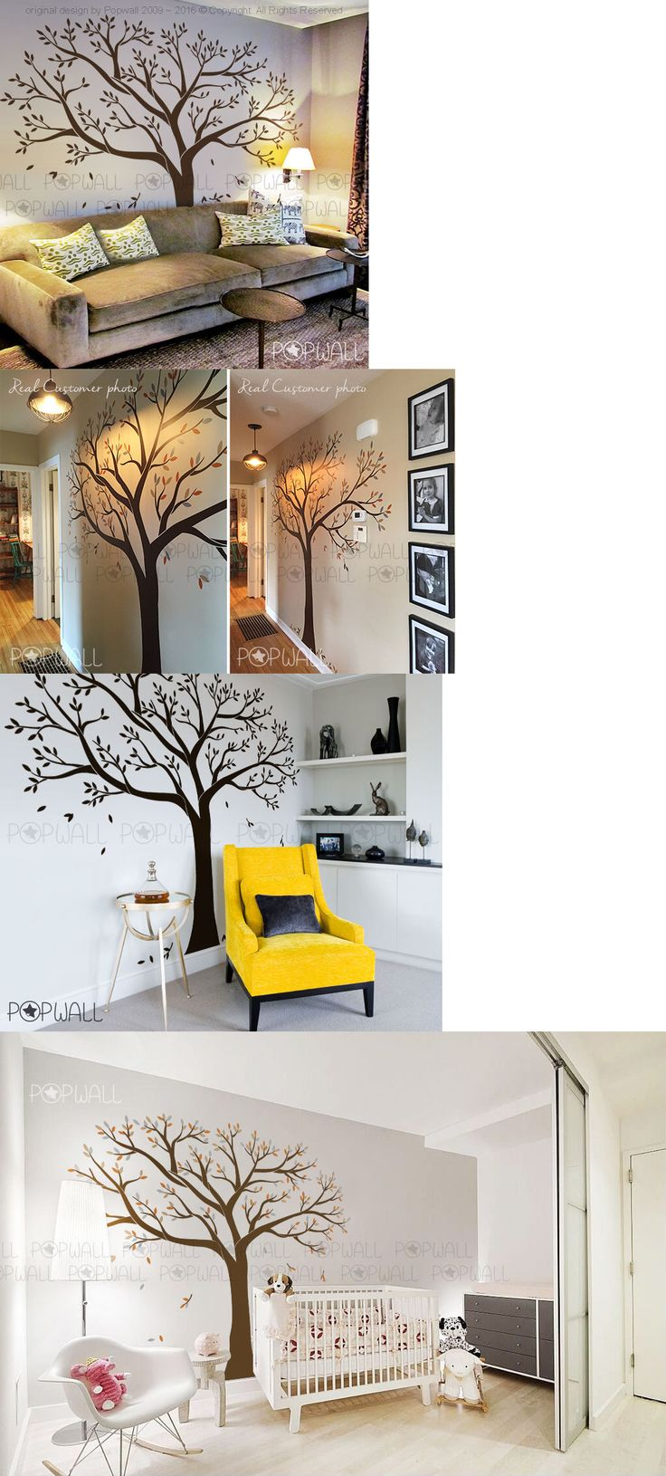 Picture frame family tree wall art tree decals trendy wall designs - Household Items Giant Family Tree Wall Sticker Vinyl Art Home Decals Room Decor Mural Branch