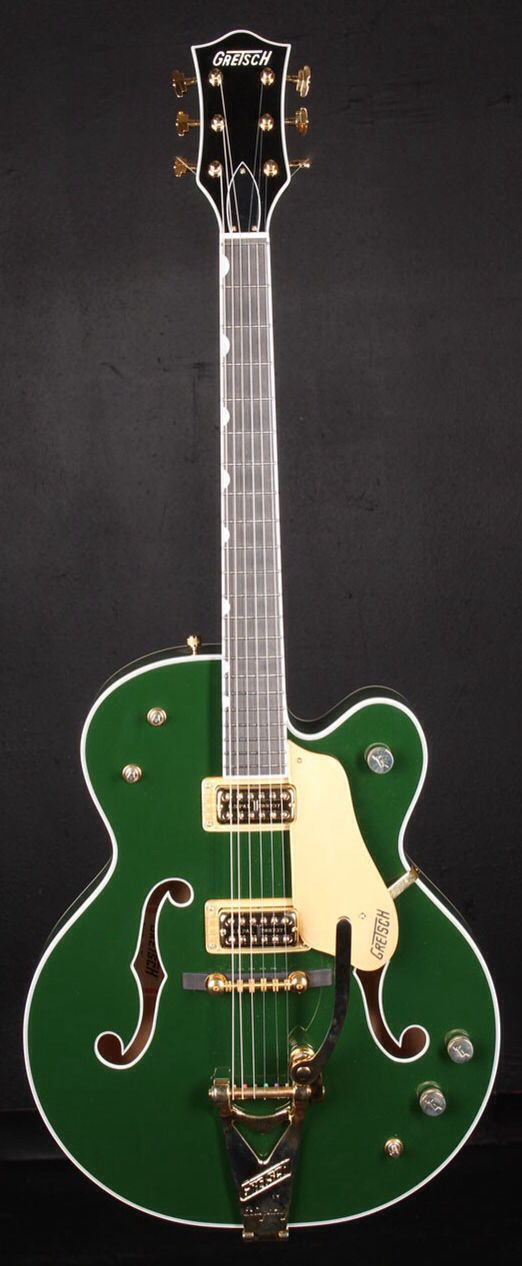 GRETSCH G6196T Country Club Electric Guitar - Cadillac Green | Small White Mouse