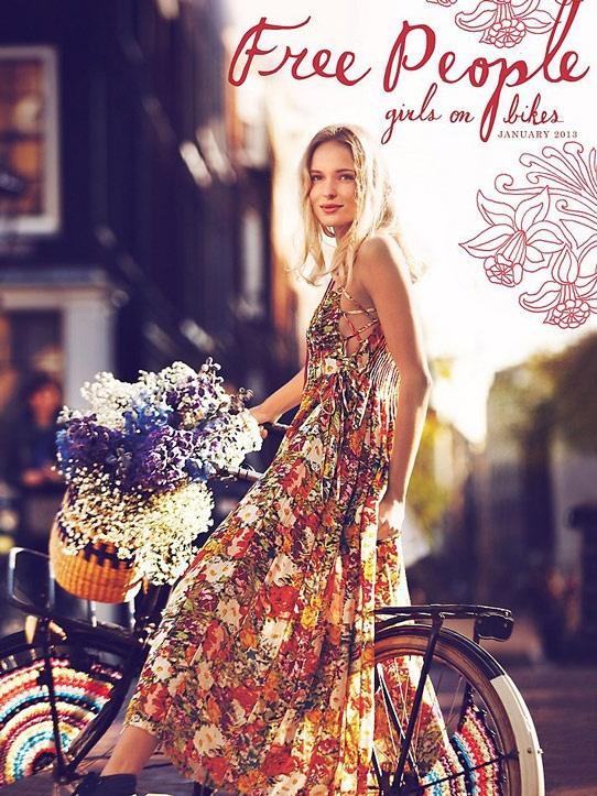 bikepretty, bike pretty, cycle style, cycle chic, bike model, bike fashion, cute bike, bike in a skirt, girls on bikes, free people, amsterdam, girl on a bike, bike flowers, bike in a dress
