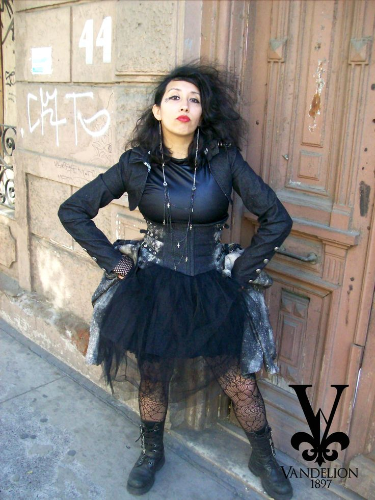 Corset skirt with petticoat, shirt, necklace, jacket and earring by Vandelion 1897