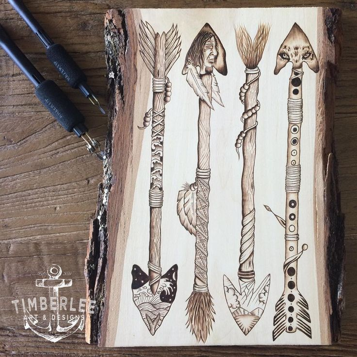 Native American arrow art. Designed and burned by ...
