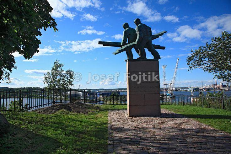 Memorial of work in the port, Kotka, Finland