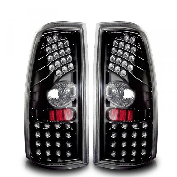 WinJet WJ20-0006-16 | 2000 Chevy Silverado Black LED Taillights for SUV/Truck/Crossover