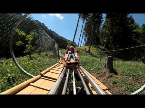 1,6 miles of fun with the Alpine Coaster in Oberammergau, Germany (max. 25 miles per hour)