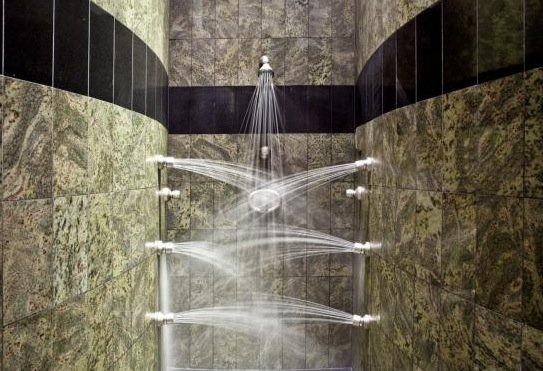 A $15 million Washington estate has a shower that is out of the Jetsons. It will really get you clean.