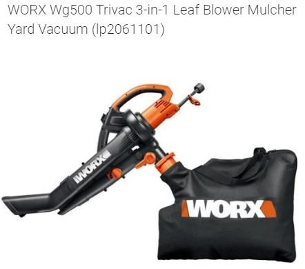 A leading brand Worx present a Trivac. This is a 3 in 1 leaf Blower/mulcher/vacuum. This is a perfect tool for the garden. Now you can rake up leaves in seconds saving you more time to do other stuff. This is ridiculously reduced by 60%.