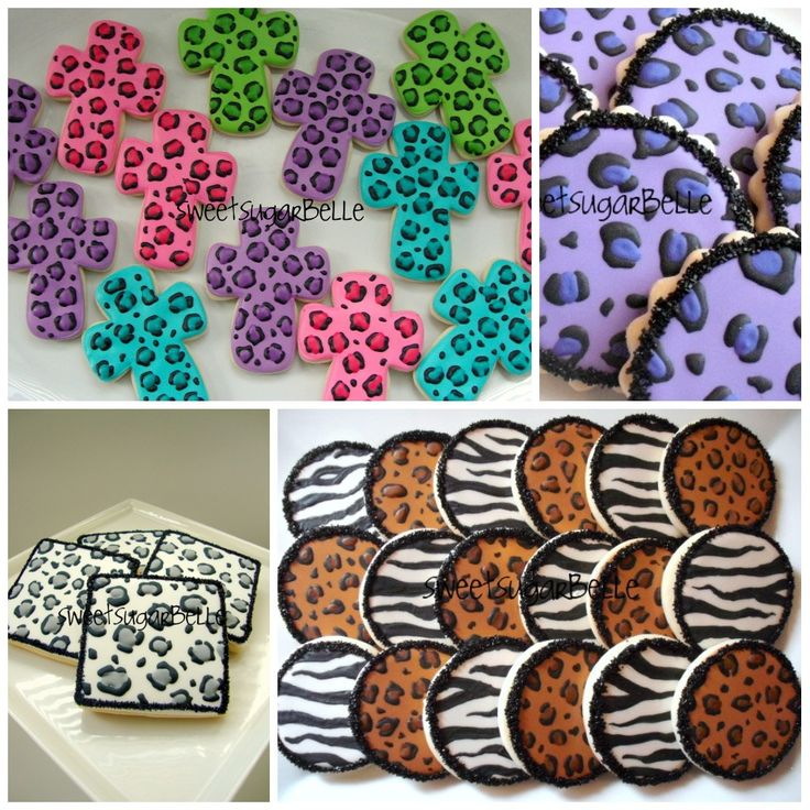 How to make Leopard Print and Zebra Stripe on cookies...For the cookies I pinned earlier... got SO many pins, I thought these instructions would be helpful...sweetsugarbelle.com has the CUTEST cookie designs that can be turned into HOLIDAY COOKIES with holiday shape cutters. Repinned By: #TheCookieCutterCompany