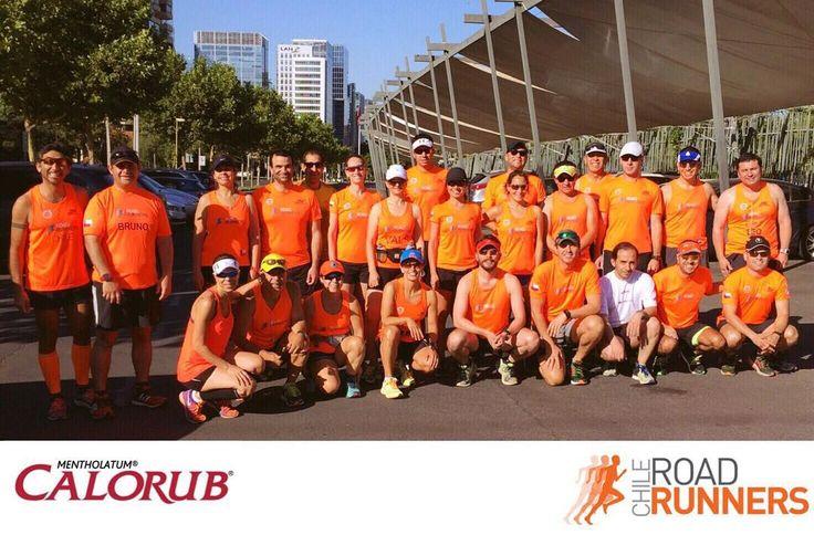 Con una ruta única de 10k realizamos nuestro entrenamiento dominical. #Calorub #RoadRunnersChile #Running #Run #Marathon #Maratón #Chile #Runners