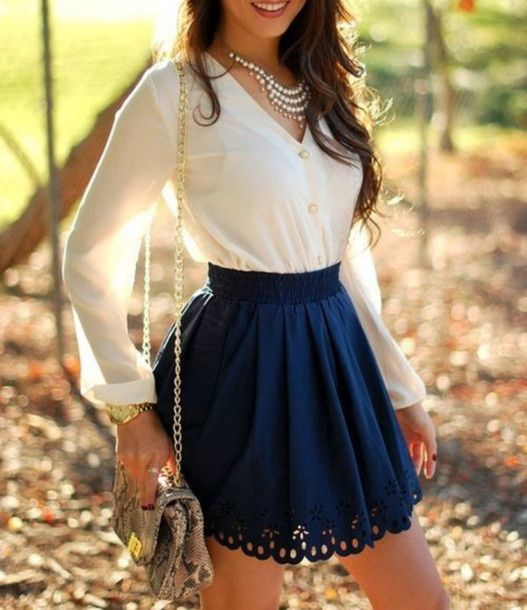 12 best images about Short Skirt on Pinterest | Striped tee, Flowy ...