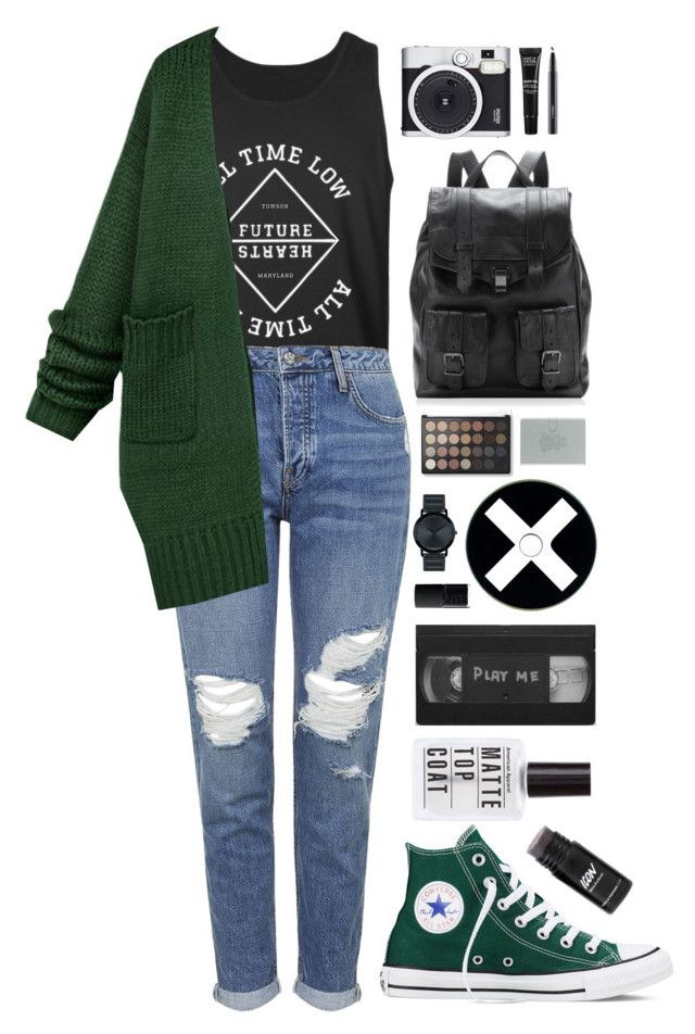 """Lost In Stereo"" by ellac9914 ❤ liked on Polyvore featuring Topshop, Converse, Proenza Schouler, Movado, NARS Cosmetics, Emporio Armani, Retrò, MAKE UP FOR EVER, MAC Cosmetics and casual"