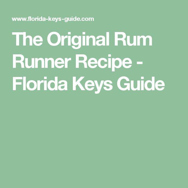 The Original Rum Runner Recipe - Florida Keys Guide