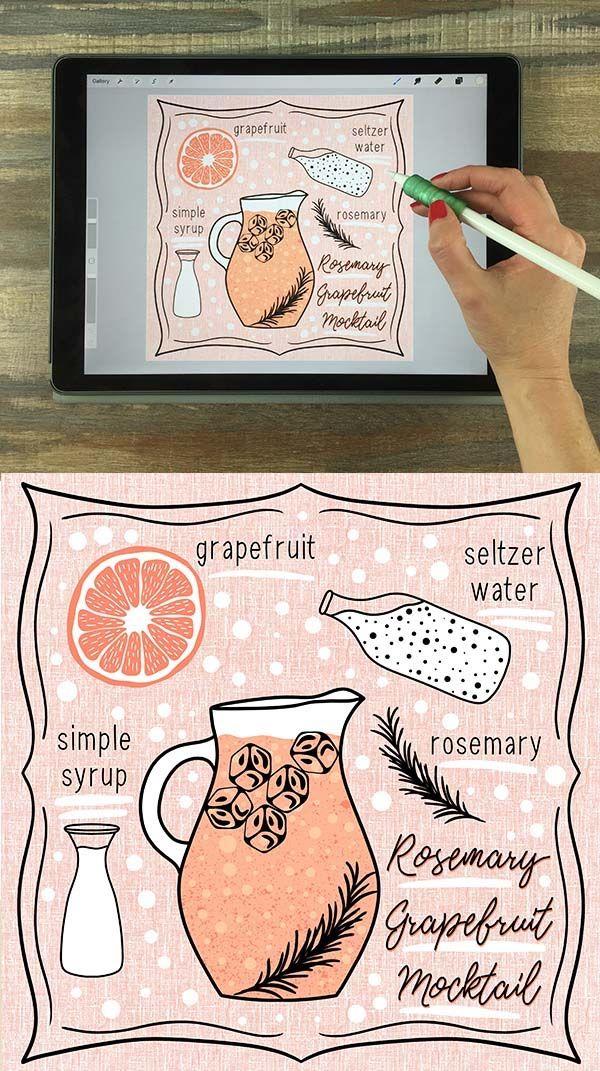 Recipe Illustrations On Your Ipad In Procreate 26 Free Procreate