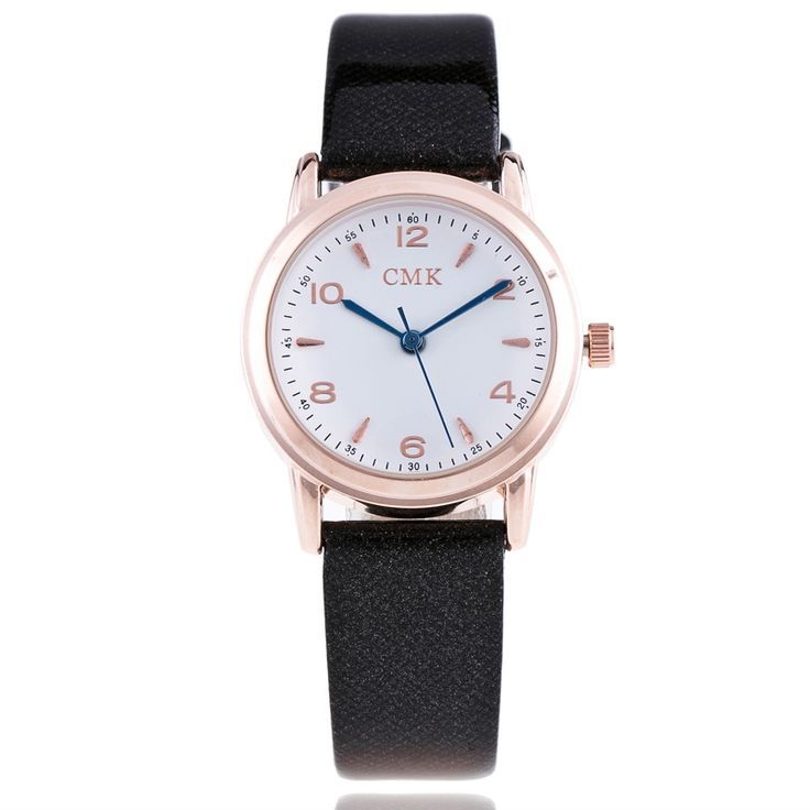 cool 2017 Luxury Candy Color Fashion Design Ladies Watch Color Watch Top Brand Watches Pink PU Leather Ladies Quartz Watches