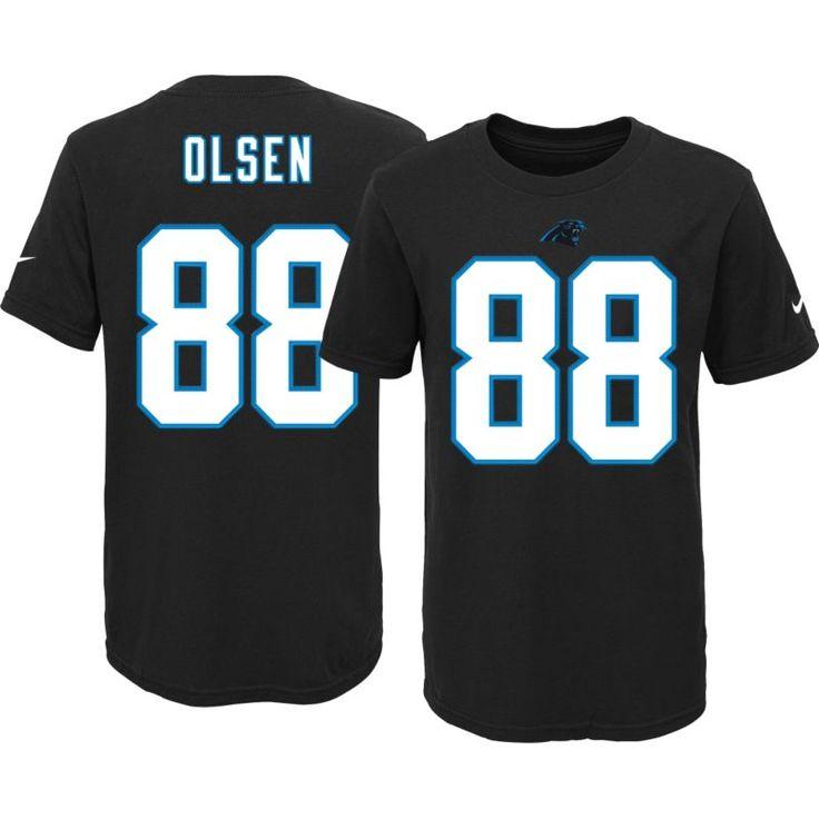 Nike Youth Carolina Greg Olsen #88 Black T-Shirt, Kids Unisex, Size: XL, Team