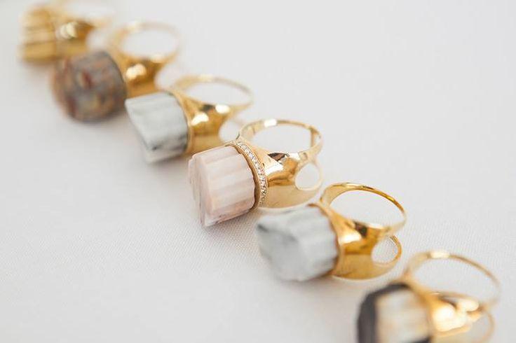 Completed Works [Marble jewellery].. more www.facebook.com/piecekorea design&craft