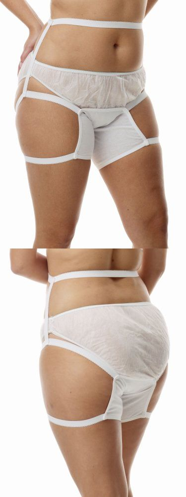 Chafe Shield - Anti-Chafing Underwear 3-Pack - Comfortable and hygienic! Pure cotton chafe shield protects inner thighs from rubbing and chafing. Color: White - Women - Apparel -