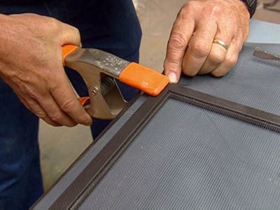 use clamps to secure mesh and hold it flat