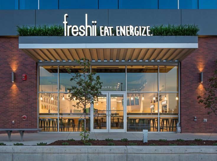 175 best freshii restaurant store design images on pinterest for Best hotel exterior design