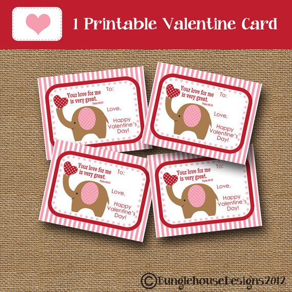 16 best images about Valentines Day – Elephant Valentine Card