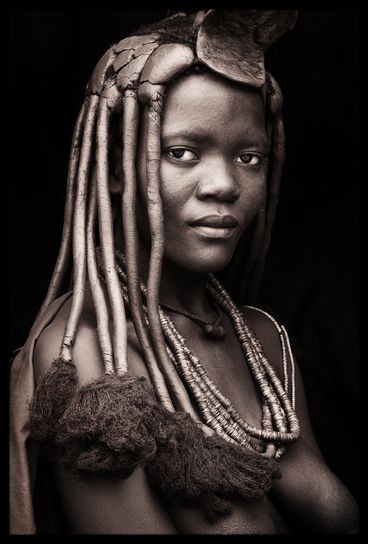 John Kenny, Himba woman, Namibia - this is more of a headdress than a veil, but it's stunning!