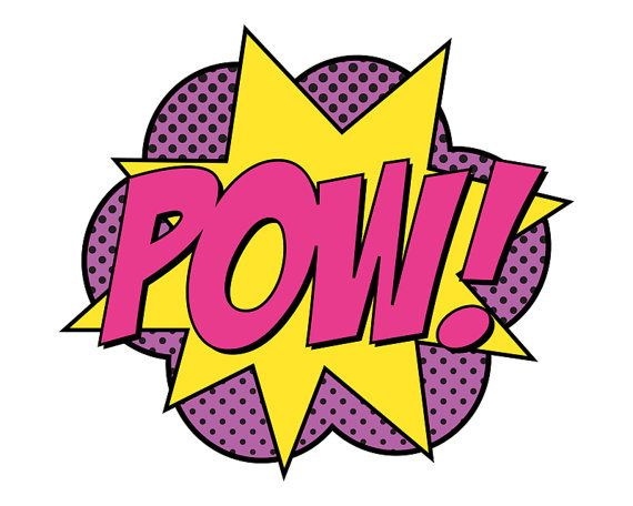 Super Girl Pow Sign Jumbo by finedandyprintables on Etsy, $5.00 #superhero #birthday #printables