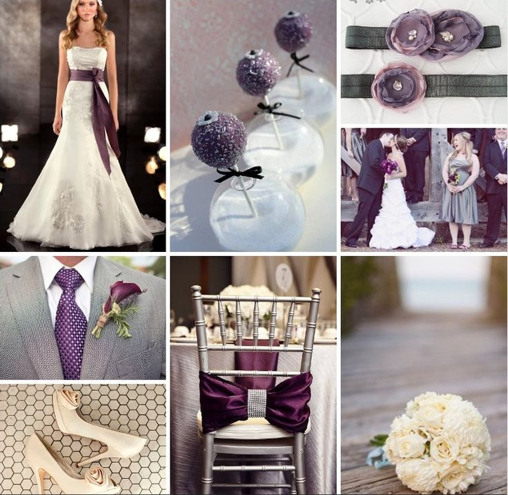 Eggplant And Red And Purple Wedding Ideas: Eggplant, Grey, And Cream Wedding Inspiration!